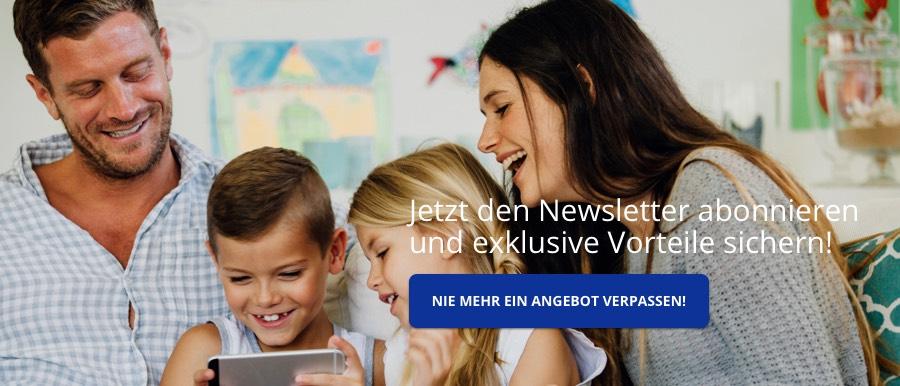 Newsletter abonnieren und nie mehr exklusive Angebote verpassen