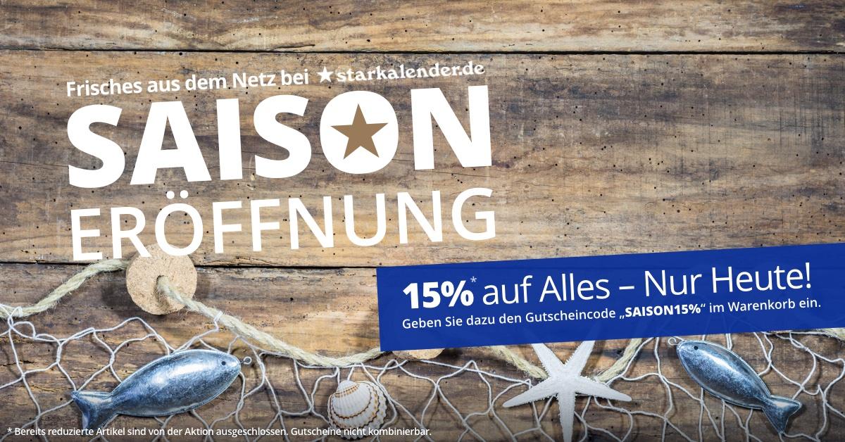 Saison Eröffnung 15% auf Alles - nur heute!