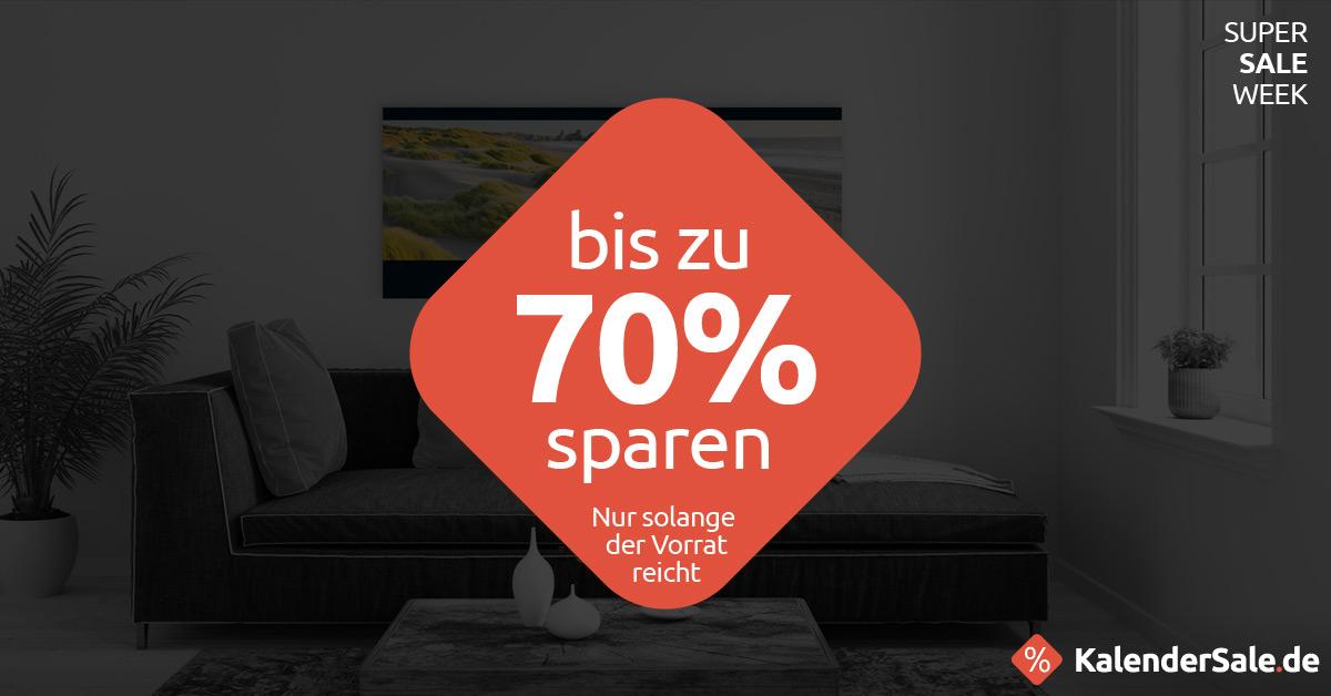 Bis zu 70% sparen auf KalenderSale.de