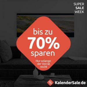 Bis zu 70% Rabatt auf Kalendersale.de